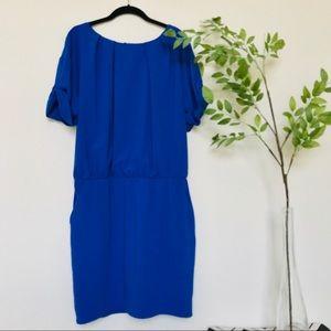 Gibson + Latimer Bright Blue Short Sleeve Dress